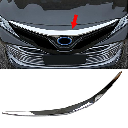 Beautost Fit For Toyota New Camry 2018 L/LE/XLE Chrome Front Hood Grill Cover Bonnet Trim