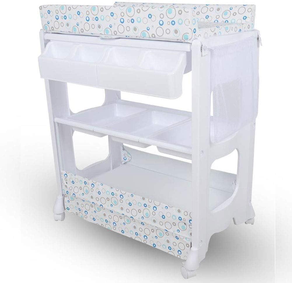 ZXCVB Multifuncional recién Nacido Cuna Cambiar los pañales Tabla táctil Cama de Masaje con bañera Cambiador y baño |Plegable |Almacenamiento del baño del bebé |Unidad de hidromasaje