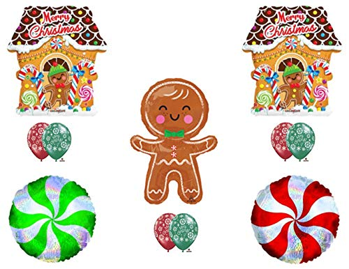 Christmas Gingerbread Man Birthday party Balloons Decorations Supplies