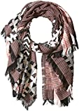 French Connection Women's Dona Patterned Scarf, Summer White/black/Sunset Wave, O/S