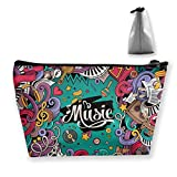 Trapezoid Toiletry Pouch Portable Travel Bag Piano Music Colors Zipper Wallet