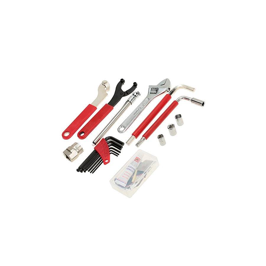 Lixada Bicycle Repair Tool Kit, Multi Function Bicycle Maintenance Tools Cycling Bike Repair Tool Kit Set