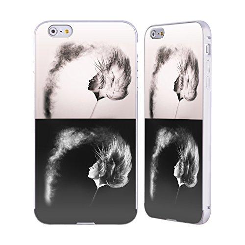 Officiel Graham Bradshaw Négatif Inversé Illustrations Argent Étui Coque Aluminium Bumper Slider pour Apple iPhone 6 Plus / 6s Plus