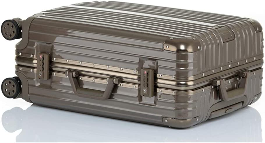 Z/&YY Scratch-Proof Aluminum Frame Trolley case Universal Wheel Luggage Box for Men and Women Students suitcases 20//22//24//26//29 inches Color : Titanium Gold - Mirror, Size : 29 inches