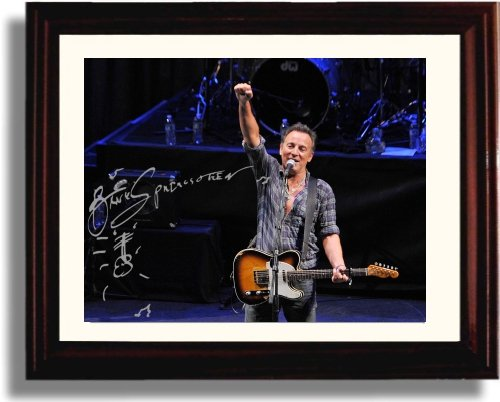 Framed Bruce Springsteen Autograph Replica (Music Signed Autograph)