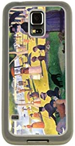Rikki KnightTM Georges-Pierre Seurat Art Sunday at La Grande Jatte Design Samsung? Galaxy S5 Case Cover (Clear Rubber with Bumper Protection) for Samsung Galaxy S5 i9600