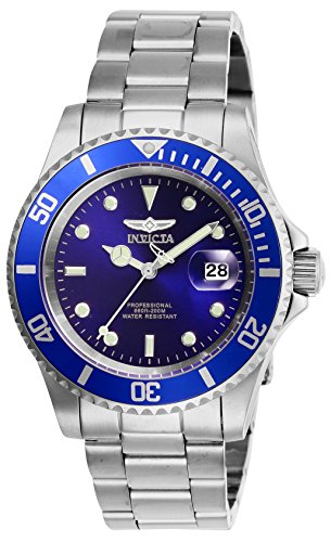 Invicta Men's Pro Diver Quartz Watch with Stainless Steel Strap, Silver, 20 (Model: 26971)