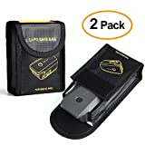 Kuuqa 2 Pcs Fireproof Explosion-proof Lipo Battery Safe Bag Lipo Battery Guard Safe Pouch Sack for DJI Mavic Pro Battery Storage (DJI Mavic Not Included)