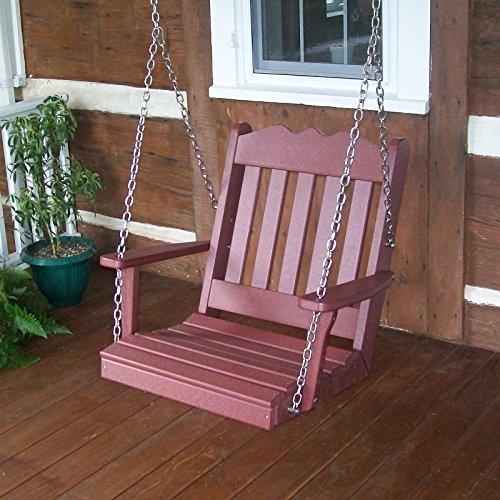 - A & L Furniture Poly Royal English Chair Swing, Cedar