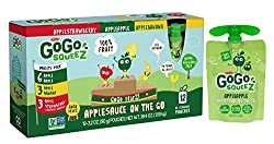 Gogo Squeez Applesauce Go, Variety Pack (Apple Appleapple Bananaapple Strawberry), 3.2 Ounce Portable Bpa-free Pouches, Gluten-free, 12 Total Pouches