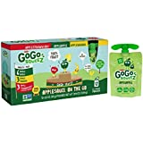 GoGo squeeZ Applesauce on the Go, Variety Pack (Apple Apple/Apple Banana/Apple Strawberry), 3.2 Ounce Portable BPA-Free Pouches, Gluten-Free, 72 Total Pouches (6 Boxes with 12 Pouches Each)