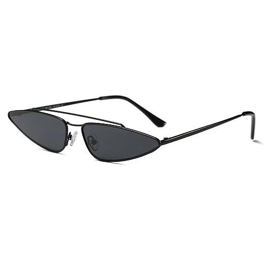 MINCL 2018 Hot Sale Fashion Small Sexy Cateye Sunglasses Womens Brand  Designer UV400 (black b11d2bf8c5