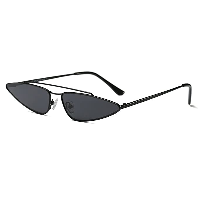 4060d3e8ef80 MINCL 2018 Hot Sale Fashion Small Sexy Cateye Sunglasses Womens Brand  Designer UV400 (black