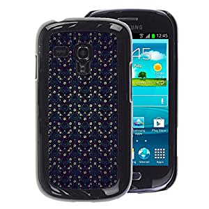 Planetar® ( Checkered Blue Vintage Wallpaper Pattern ) Samsung Galaxy S3 mini (NOT FOR S3) / i8190 / i8190N Fundas Cover Cubre Hard Case Cover