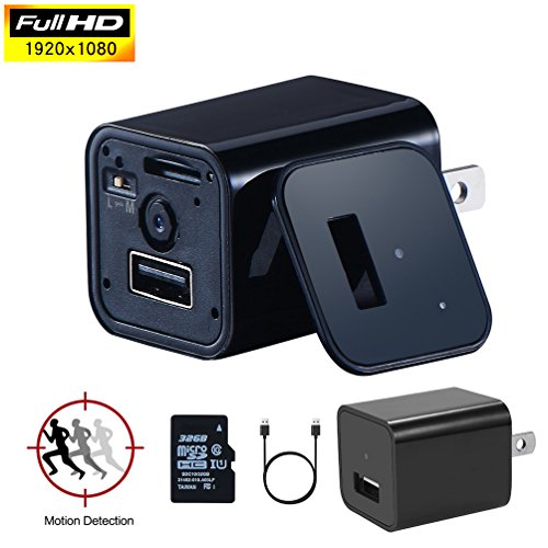 Boldguard Hidden Camera - USB Wall Charger - High Definition HD 1080p Hidden Spy Camera System Wireless - SD Card Included - Motion Detection - Perfect for Kids, Pets, Nanny, Security and Surveillance