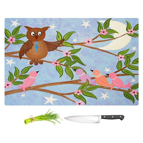 DiaNoche Designs Cutting Boards from DiaNoche Designs by Samantha Knops - Flight School Unique Kitchen Slicing Dicing Bar Artistic Decorative, Large 15'' x 11'', Not Applicable