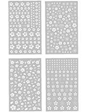 Nail Stickers White Flower 3D Självhäftande manikyröverföringar DIY Nail Art Decals 4PCS, nagelplåster