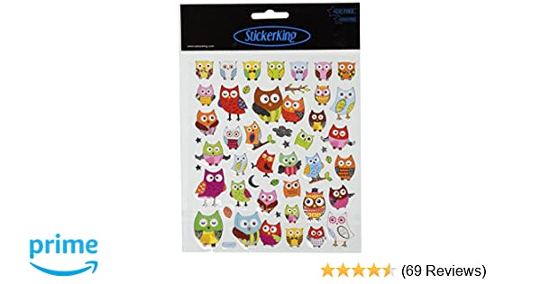 Amazon.com: Tattoo King Multi-Colored Stickers-Wide Eyed Owls: Arts, Crafts & Sewing