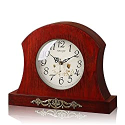 LANNA SHOP- European Retro Mantel / Mantle Rhythm Quartz Clock living room desk shelf clocks Decoration