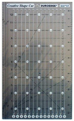 Creative Shape Cut Slitted Non-Slip Ruler Duroedge 13 Inch KR-0915C