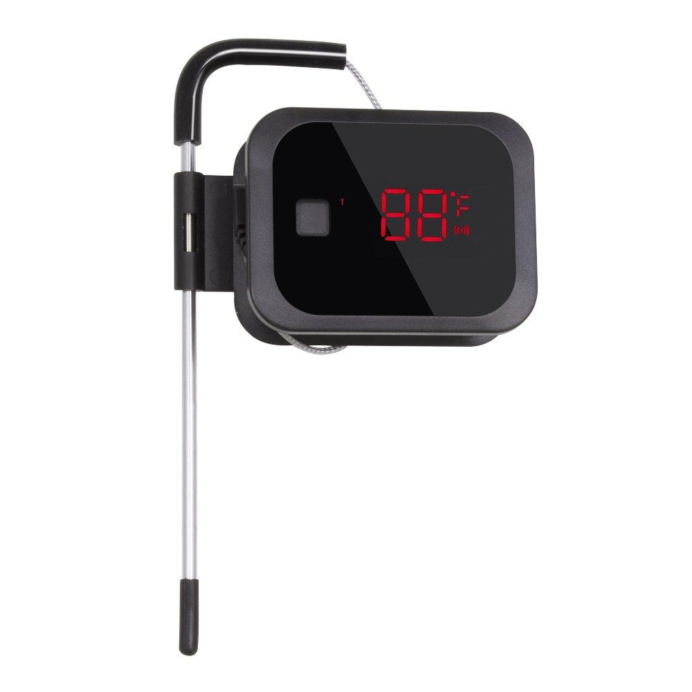 Inkbird IBT-2X Bluetooth 4.0 Termómetros Digitales de Cocina con Inoxidable Sonda, Smart Temporizador Portatil con Pantalla LED Grande + Temperatura de ...