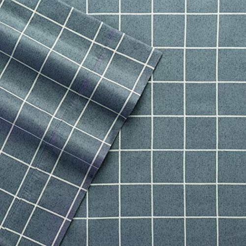 Columbia Warm & Cozy Flannel Sheet Set - 100% Cotton Ultra Breathable - Moisture Wicking - High-Performance Flannel 4 Piece Sheet Set (Queen, Charcoal Windowpane)