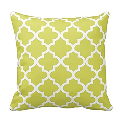Amazon Chartreuse Green And White Decorative Cushion Covers Fascinating Chartreuse Pillows Decorative