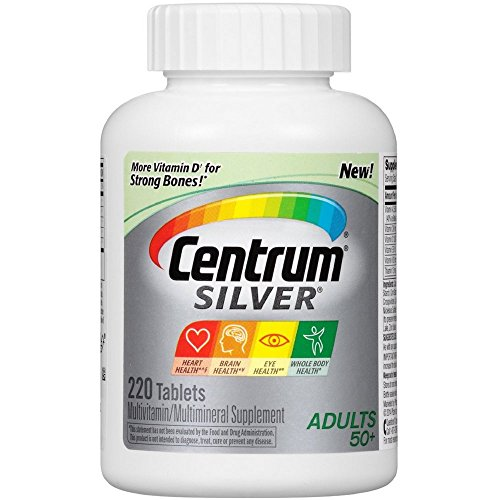 Centrum Silver, Multivitamin/ Multimineral Supplement, Adults + 50, 220-Count Bottle (Pack of 3 (220 ct ea)) For Sale
