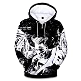 VOSTE Xxxtentacion Hoodie 3D Printed Hooded Pullover Sweatshirt Jacket T-Shirt (X-Large, Color 10)