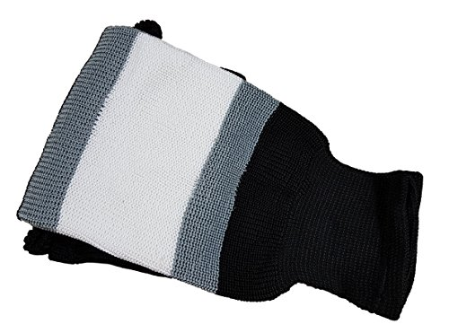 Hockey Socks Knit - Senior/Junior Sizes, Multiple Colors (Junior 24, 19 Black and Silver)