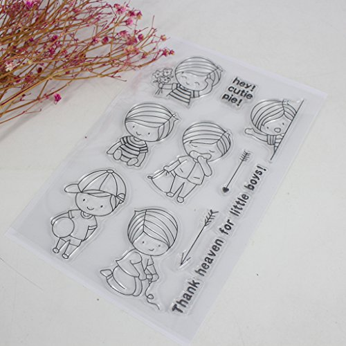 Hijing DIY Clear Stamp Clear Silicone Lovely Clear Pattern Stamp for Panda DIY Album Scrapbooking Photo Card Decor Kid Gift No.1 by Hijing (Image #2)
