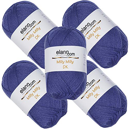 elann Milly Milly DK Yarn | 5 Ball Bag | 125 Iris ()