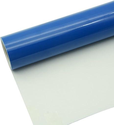 Vinilo Adhesivo Permanente Brillante Azul Brillante 30x300cm para Cortadores de Artesanía, Punzones y Cortadores de Señal de Vinilo: Amazon.es: Hogar