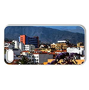 Puerto de la Cruz-Canary Islands-SPAIN - Case Cover for iPhone 5 and 5S (Watercolor style, White)