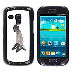 Be Good Phone Accessory // Dura Cáscara cubierta Protectora Caso Carcasa Funda de Protección para Samsung Galaxy S3 MINI NOT REGULAR! I8190 I8190N // Red Eyes Monster Cartoon Charact