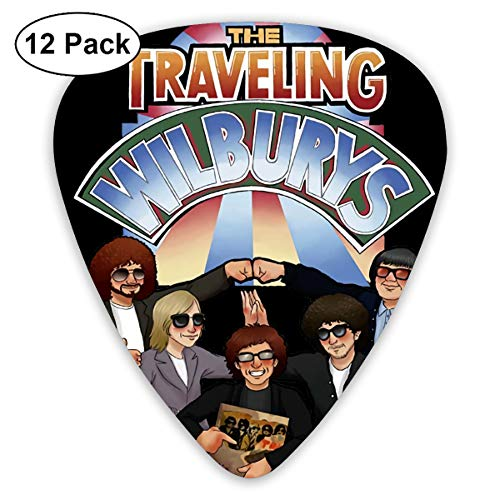 The Traveling Wilburys 3 Types The Thickness Is Optional Feature 12 Pieces Guitar Picks Acoustic Guitar Electric Guitar (Traveling Wilburys Guitar)