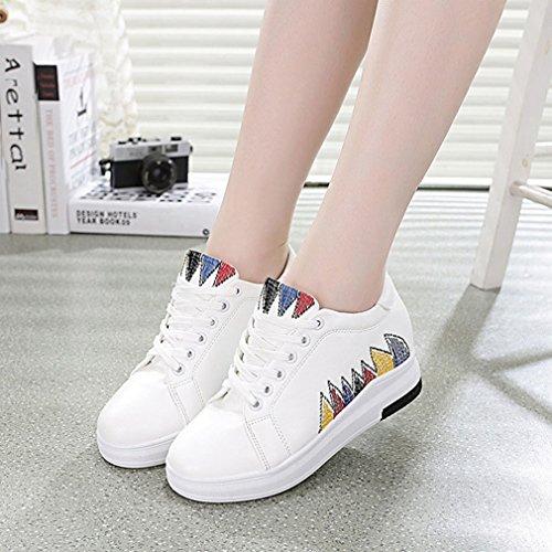 Scarpe Sneakers Alte Giy Da Donna Con Tacco Alto E Zeppa Nascoste