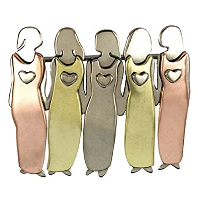 Five Sisters Pin 5 Best Friends Brooch Far Fetched Mima & Oly