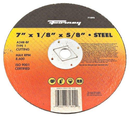 Forney Welding - 71892 - Metal Cut-Off Wheel 7In X 1/8 I - P