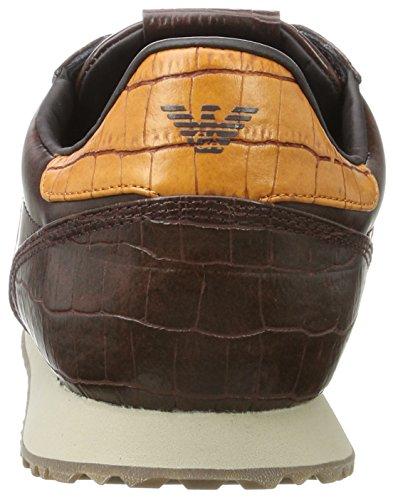Brown 1772 Cut Emporio Baskets Sneaker Marron Dark 13953 Armani Homme Low qzq86W4p