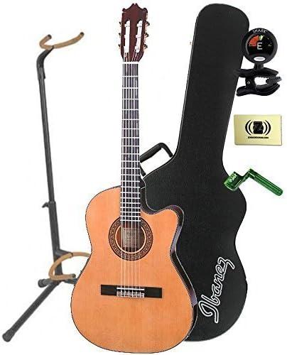 Ibanez GA5TCE-AM – Guitarra clásica Electroacústica en ámbar con funda, mini soporte, sintonizador, pegwinders, y paño de pulido: Amazon.es: Instrumentos musicales