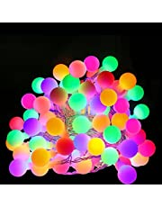 LE 100 LEDs RGB Globe Ball String Lights 33ft/10m 8 Modes Garden Patio Party Christmas Outdoor Decoration (RGB)