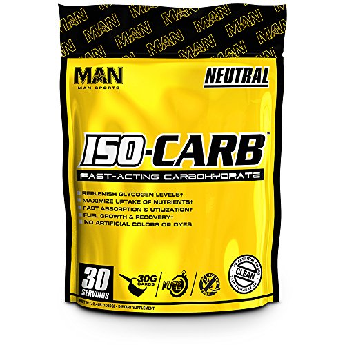 MAN Sports Iso-Carb Fast-Digesting Carbohydrate Powder Post Workout Supplement, Neutral, 990 - Glycogen Supplement