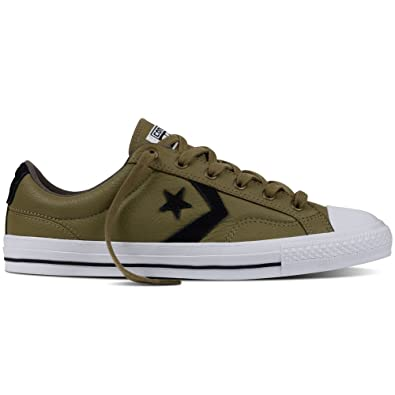 Converse Mens Star Player Leather Ox Leather Trainers  W6N2HUBU1