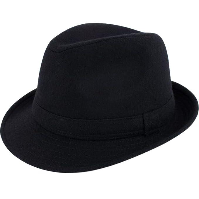 d5a55260cae7cb ALL IN ONE CART Mens Classic Manhattan Structured Gangster Trilby Fedora  Hat Short Brim Panama Hat