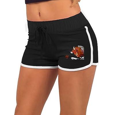 TIA HICKS Women Summer Sports Drawstring Shorts Taurus Constellation Zodiac Sign Retro Running Yoga Gym Workout Pants