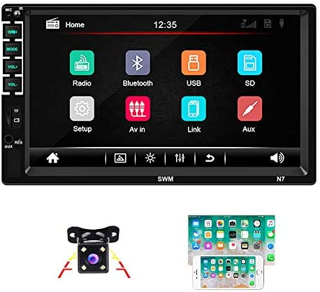 Bluetooth 2 Din Autoradio Camecho 7 Zoll Kapazitiver Elektronik