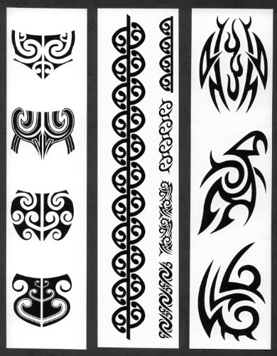 f455eb1e0 Women's Maori Moko Chin & Body Temporary Tattoos / Set of 12 - Buy Online  in Oman. | Health and Beauty Products in Oman - See Prices, Reviews and  Free ...