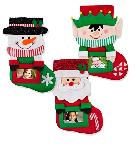 Personalized Christmas Stockings - Set of 3 3D Classic Christmas Stockings with Picture Frame- Personalize it with your picture by Gift Boutique