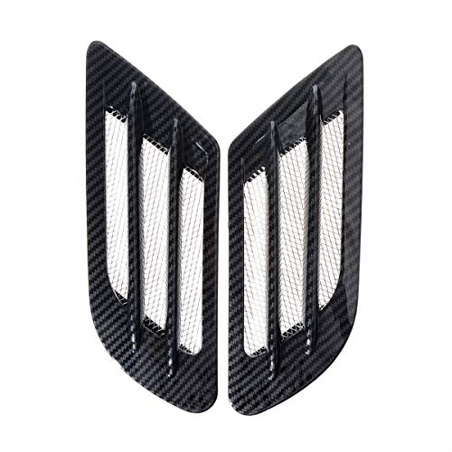 (ZYHW Car Air Flow Sticker Adhesive Side Vent Fender Intake Decor Black 2Pcs)